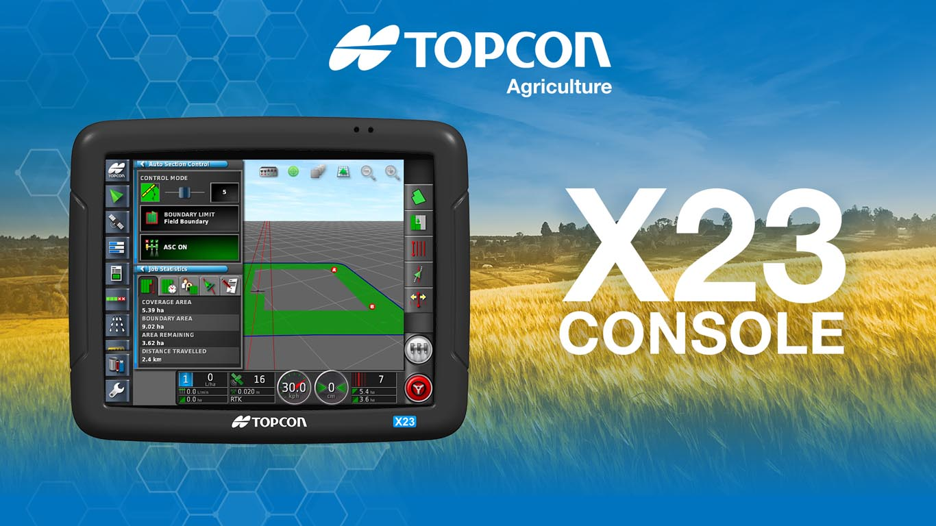 Topcon Agriculture launches new X23 touchscreen console - Tillage ...