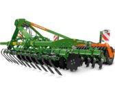Front mounted frame with Crushboard or tractor wheel mark eradicators for Catros Special or CatrosXL