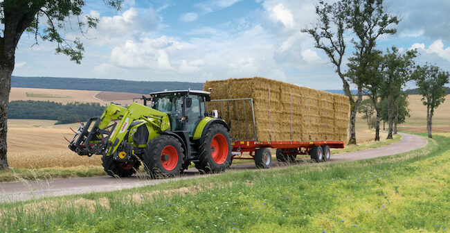 Claas launches automatic trailer stretch brake for ARION CMATIC